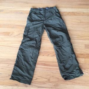 REI convertible olive pants sz 10 comfortable nice